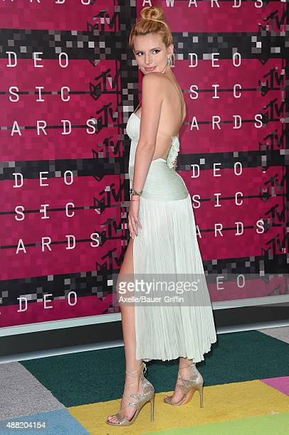 Actress Bella Thorne arrives at the 2015 MTV Video Music Awards at Microsoft Theater on August 30 2015 in Los Angeles California