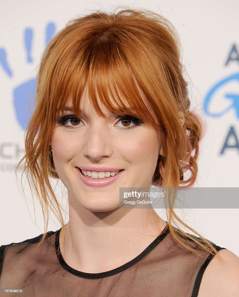 Actress <a gi-track='captionPersonalityLinkClicked' href=/galleries/search?phrase=Bella+Thorne&family=editorial&specificpeople=5083663 ng-click='$event.stopPropagation()'>Bella Thorne</a> arrives at the 2nd Annual American Giving Awards at the Pasadena Civic Auditorium on December 7, 2012 in Pasadena, California.