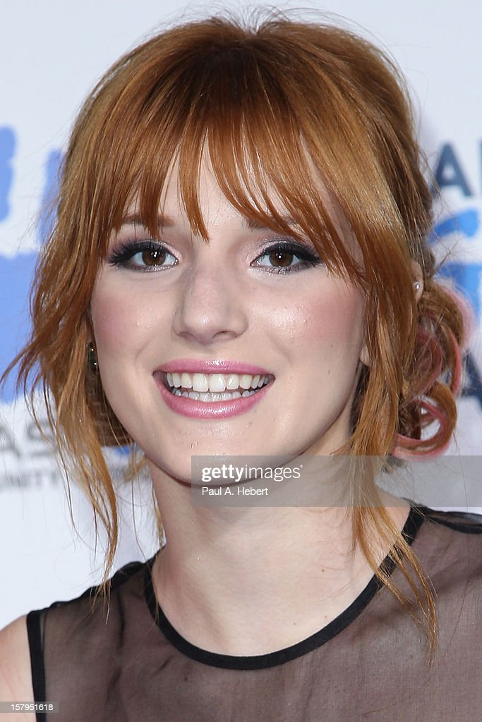 Actress Bella Thorne arrives at the 2nd Annual American Giving Awards presented by Chase held at the Pasadena Civic Auditorium on December 7, 2012 in Pasadena, California.