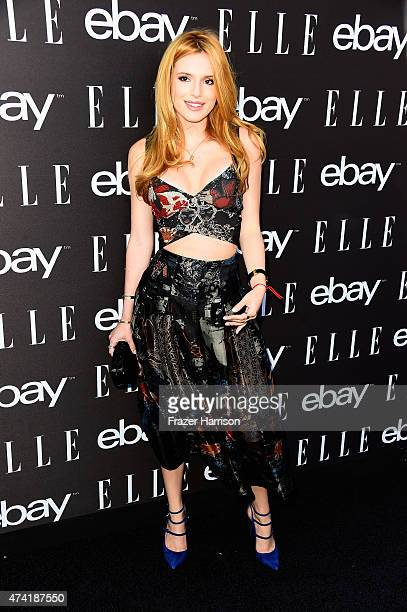 Actress Bella Thorne arrives at the 6th Annual ELLE Women In Music Celebration Presented By eBayat Boulevard3 on May 20 2015 in Hollywood California