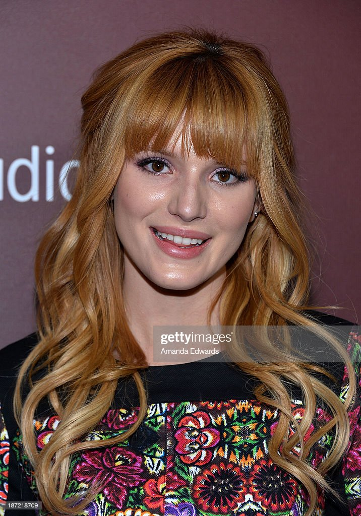 Actress <a gi-track='captionPersonalityLinkClicked' href=/galleries/search?phrase=Bella+Thorne&family=editorial&specificpeople=5083663 ng-click='$event.stopPropagation()'>Bella Thorne</a> arrives at The Hollywood Reporter's Next Gen 20th Anniversary Gala at the Hammer Museum on November 6, 2013 in Westwood, California.