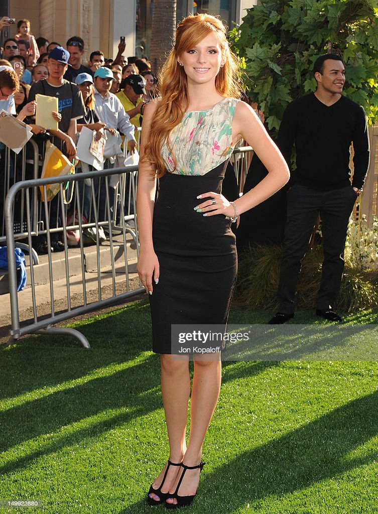 Actress Bella Thorne arrives at the Los Angeles Premiere 'The Odd Life Of Timothy Green' at the El Capitan Theatre on August 6 2012 in Hollywood...