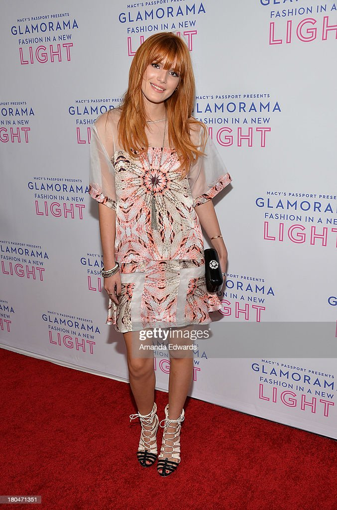 Actress Bella Thorne arrives at the Macy's Passport Presents Glamorama 2013 'Fashion In A New Light' at The Orpheum Theatre on September 12 2013 in...