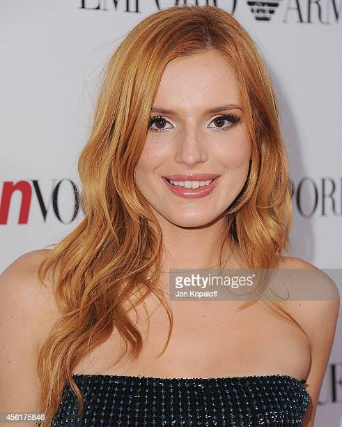 Actress Bella Thorne arrives at the Teen Vogue Young Hollywood Party on September 26 2014 in Los Angeles California