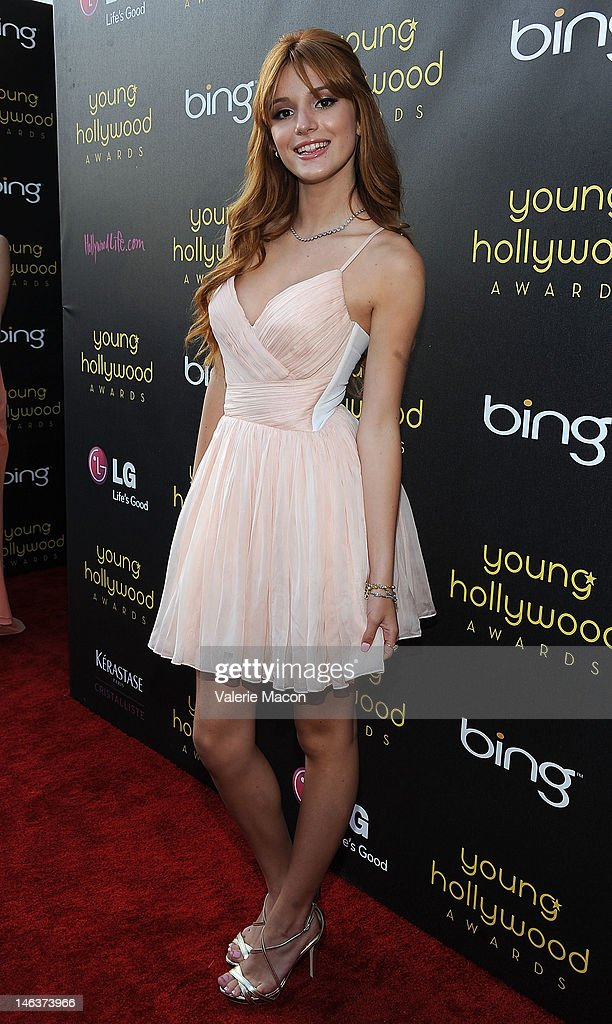 Actress <a gi-track='captionPersonalityLinkClicked' href=/galleries/search?phrase=Bella+Thorne&family=editorial&specificpeople=5083663 ng-click='$event.stopPropagation()'>Bella Thorne</a> arrives at the Young Hollywood Awards at Hollywood Athletic Club on June 14, 2012 in Hollywood, California.