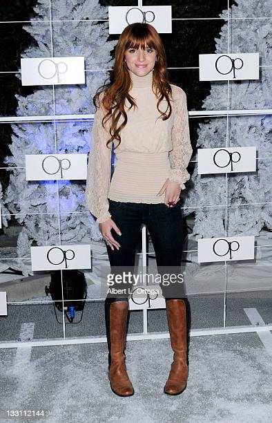Actress Bella Thorne arrives for the OP 'Winter Wonderland' Party held at Siren Studios on November 16 2011 in Hollywood California