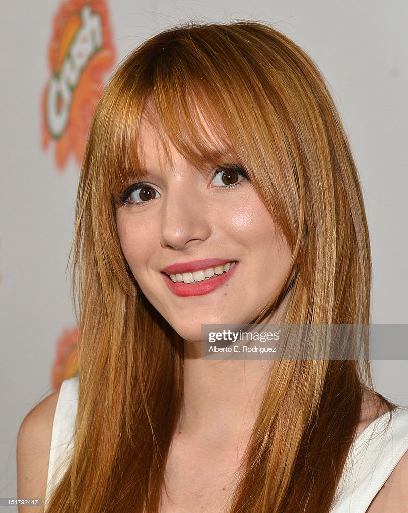Actress Bella Thorne arrives to the premiere of Paramount Pictures' 'Fun Size' at Paramount Theater on the Paramount Studios lot on October 25, 2012 in Hollywood, California.