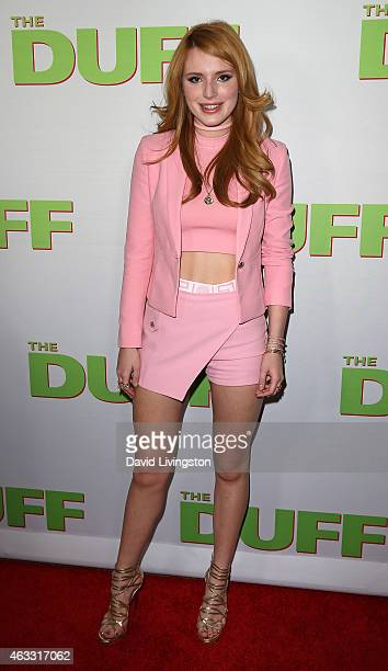 Actress Bella Thorne attends a fan screening of CBS Films' 'The Duff' at TCL Chinese 6 Theatres on February 12 2015 in Hollywood California