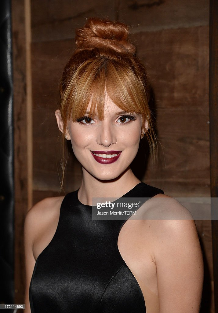 Actress <a gi-track='captionPersonalityLinkClicked' href=/galleries/search?phrase=Bella+Thorne&family=editorial&specificpeople=5083663 ng-click='$event.stopPropagation()'>Bella Thorne</a> attends a private event at Hyde Lounge hosted by Dell for the Beyonce concert at The Staples Center on July 1, 2013 in Los Angeles, California.