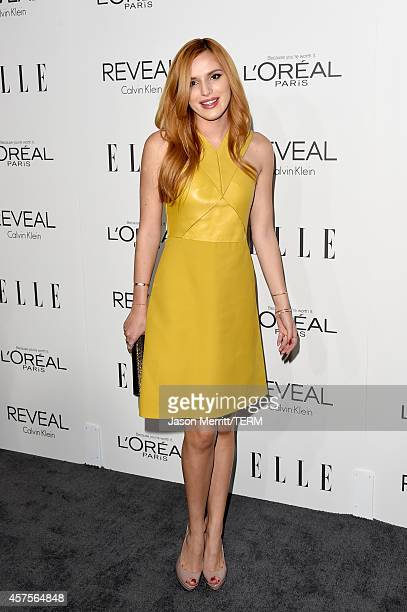 Actress Bella Thorne attends ELLE's 21st Annual Women in Hollywood Celebration at the Four Seasons Hotel on October 20 2014 in Beverly Hills...