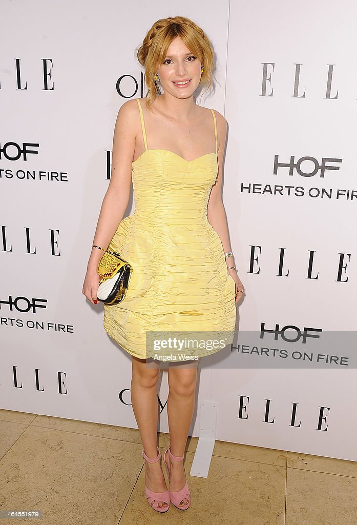 Actress <a gi-track='captionPersonalityLinkClicked' href=/galleries/search?phrase=Bella+Thorne&family=editorial&specificpeople=5083663 ng-click='$event.stopPropagation()'>Bella Thorne</a> attends ELLE's Annual Women in Television Celebration at Sunset Tower on January 22, 2014 in West Hollywood, California.