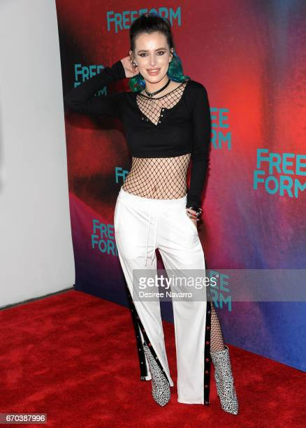 Actress Bella Thorne attends Freeform 2017 Upfront at Hudson Mercantile on April 19 2017 in New York City