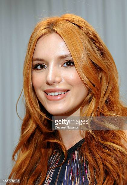 Actress Bella Thorne attends J Mendel Front Row Backstage Spring 2016 New York Fashion Week at 330 Hudson St on September 17 2015 in New York City
