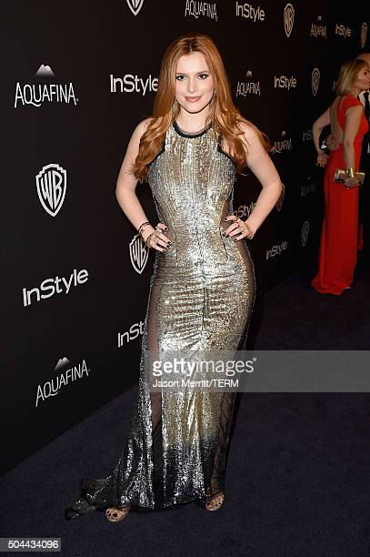 Actress Bella Thorne attends The 2016 InStyle And Warner Bros 73rd Annual Golden Globe Awards PostParty at The Beverly Hilton Hotel on January 10...