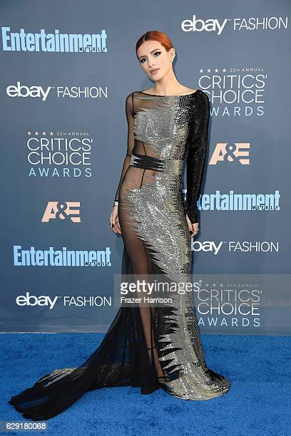 Actress Bella Thorne attends The 22nd Annual Critics' Choice Awards at Barker Hangar on December 11 2016 in Santa Monica California