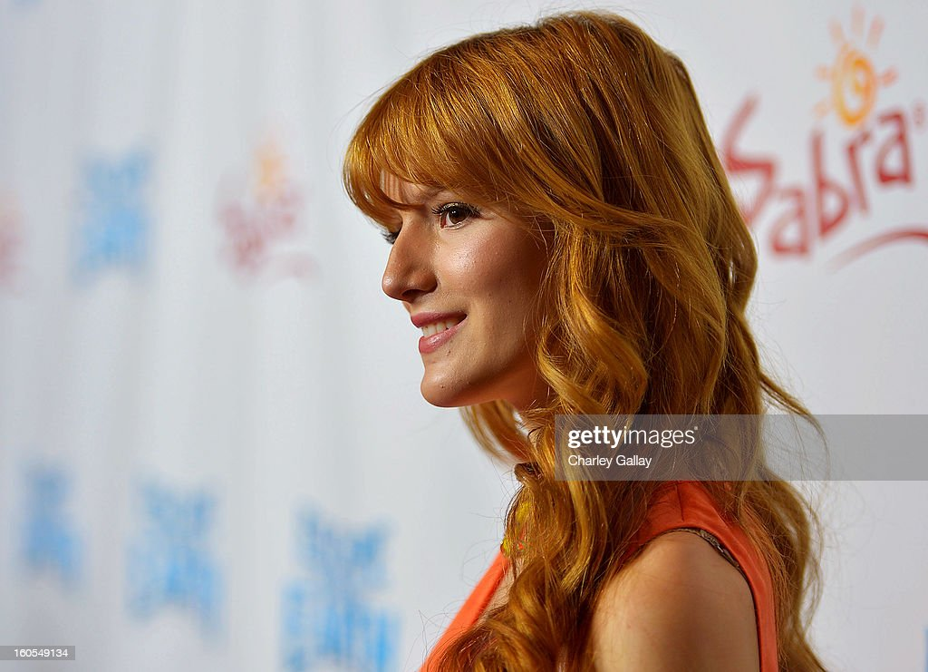 Actress Bella Thorne attends the 'Escape From Planet Earth' premiere presented by The Weinstein Company in partnership with Sabra at Mann Chinese 6 on February 2, 2013 in Los Angeles, California.