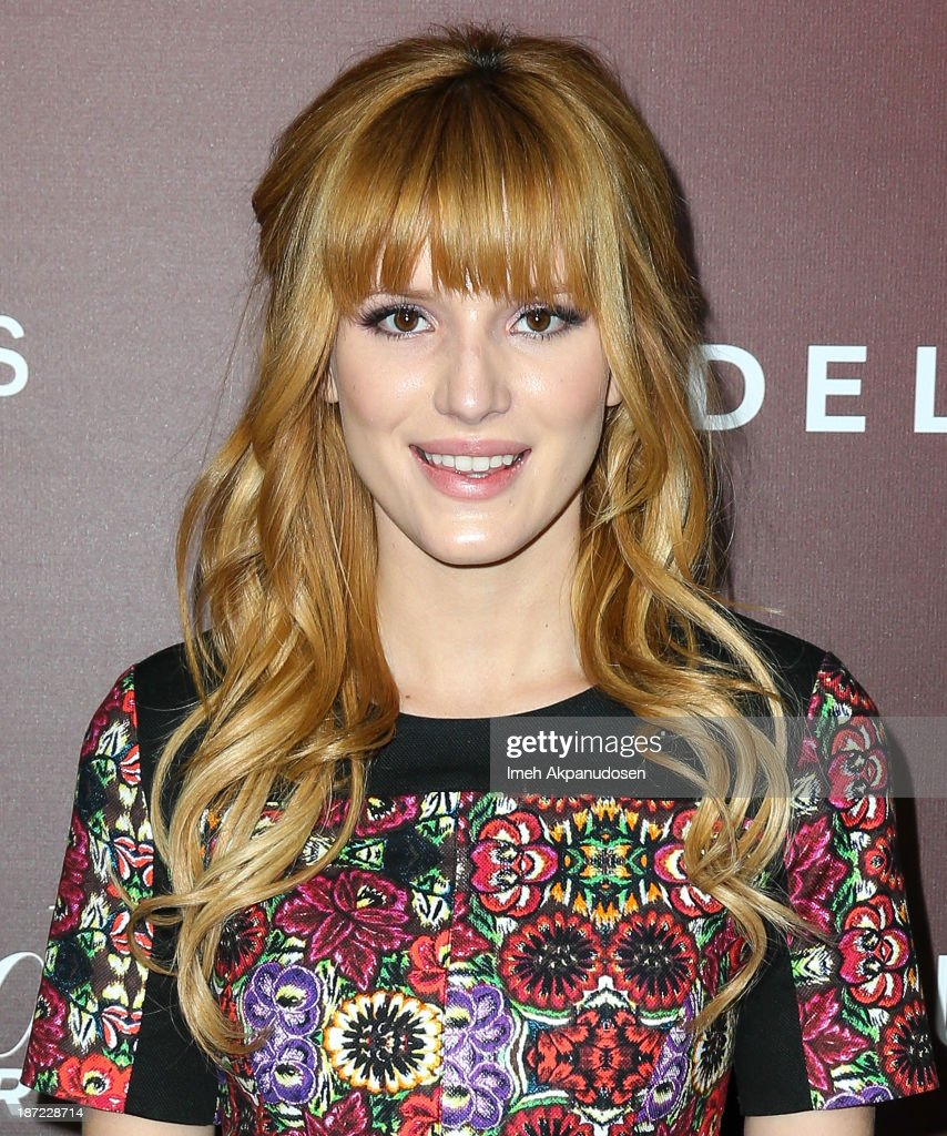 Actress <a gi-track='captionPersonalityLinkClicked' href=/galleries/search?phrase=Bella+Thorne&family=editorial&specificpeople=5083663 ng-click='$event.stopPropagation()'>Bella Thorne</a> attends The Hollywood Reporter's 'Next Gen' 20th Anniversary Gala at Hammer Museum on November 6, 2013 in Westwood, California.