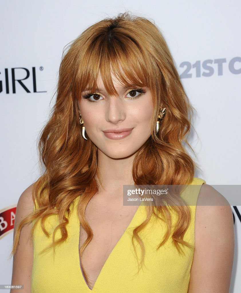 Actress <a gi-track='captionPersonalityLinkClicked' href=/galleries/search?phrase=Bella+Thorne&family=editorial&specificpeople=5083663 ng-click='$event.stopPropagation()'>Bella Thorne</a> attends the Latina Magazine 'Hollywood Hot List' party at The Redbury Hotel on October 3, 2013 in Hollywood, California.