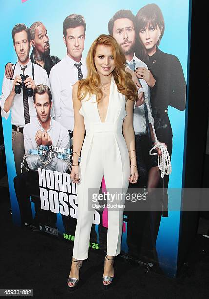 Actress Bella Thorne attends the Los Angeles premiere of New Line Cinema's 'Horrible Bosses 2' at TCL Chinese Theatre on November 20 2014 in...
