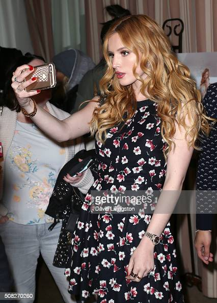 Actress Bella Thorne attends the Miss Me and Cosmopolitan's spring campaign launch event hosted by Bella Thorne at The Terrace at Sunset Tower on...