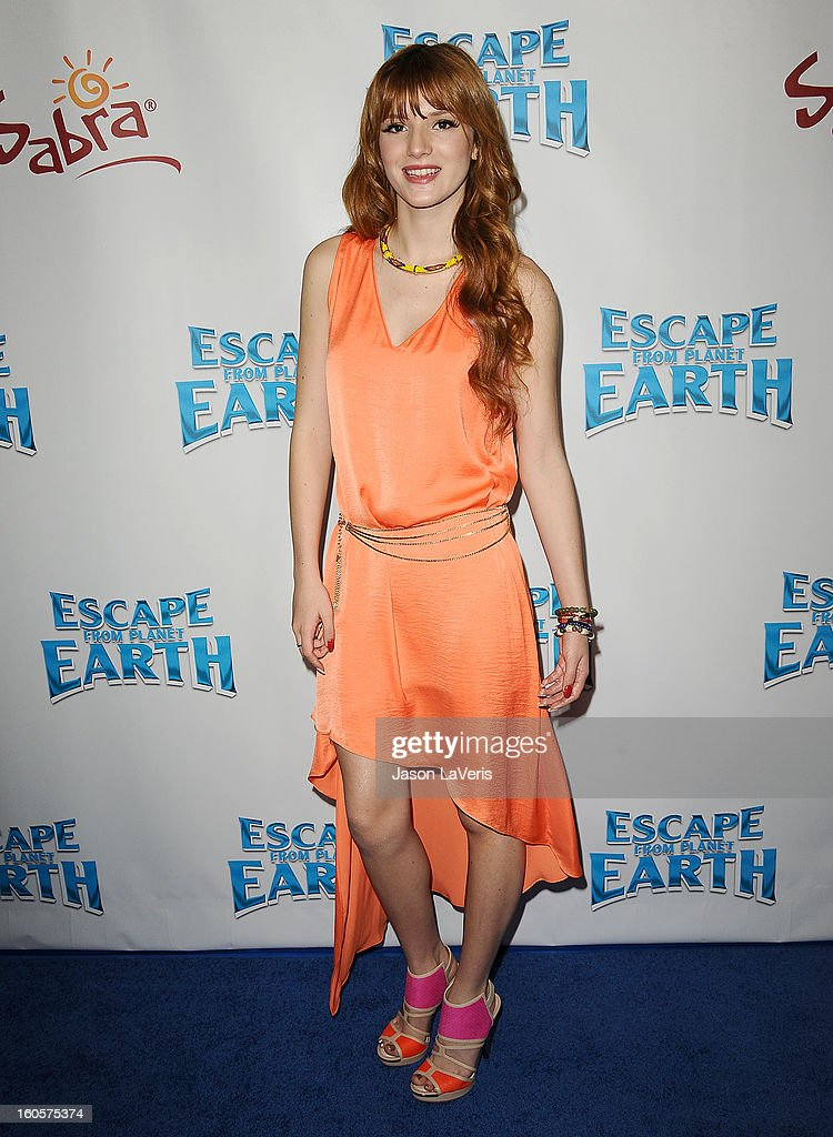 Actress Bella Thorne attends the premiere of 'Escape From Planet Earth' at Mann Chinese 6 on February 2, 2013 in Los Angeles, California.
