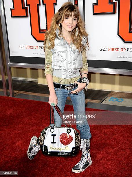 Actress Bella Thorne attends the premiere of 'Fired Up' at Pacific Culver Theatre on February 19 2009 in Culver City California