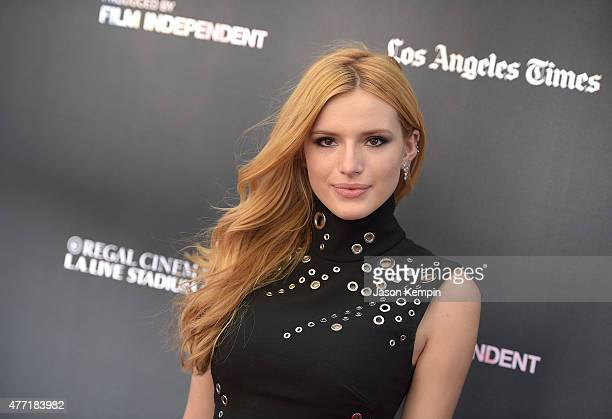 Actress Bella Thorne attends the premiere of MTV And Dimension TV's 'Scream' at Regal Cinemas LA Live on June 14 2015 in Los Angeles California