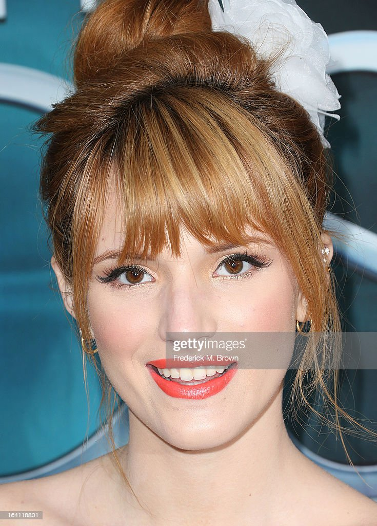 Actress <a gi-track='captionPersonalityLinkClicked' href=/galleries/search?phrase=Bella+Thorne&family=editorial&specificpeople=5083663 ng-click='$event.stopPropagation()'>Bella Thorne</a> attends the Premiere of Open Roads Films 'The Host' at the ArcLight Cinemas Cinerama Dome on March 19, 2013 in Hollywood, California.