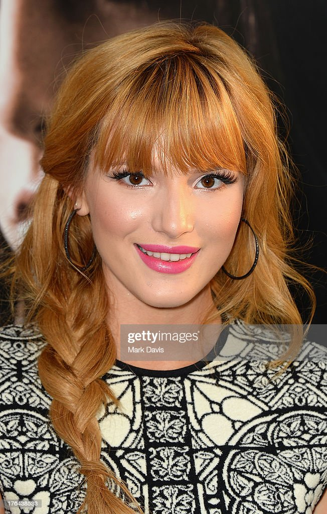 Actress <a gi-track='captionPersonalityLinkClicked' href=/galleries/search?phrase=Bella+Thorne&family=editorial&specificpeople=5083663 ng-click='$event.stopPropagation()'>Bella Thorne</a> attends the premiere of Screen Gems & Constantin Films' 'The Mortal Instruments: City of Bones' at ArcLight Cinemas Cinerama Dome on August 12, 2013 in Hollywood, California.