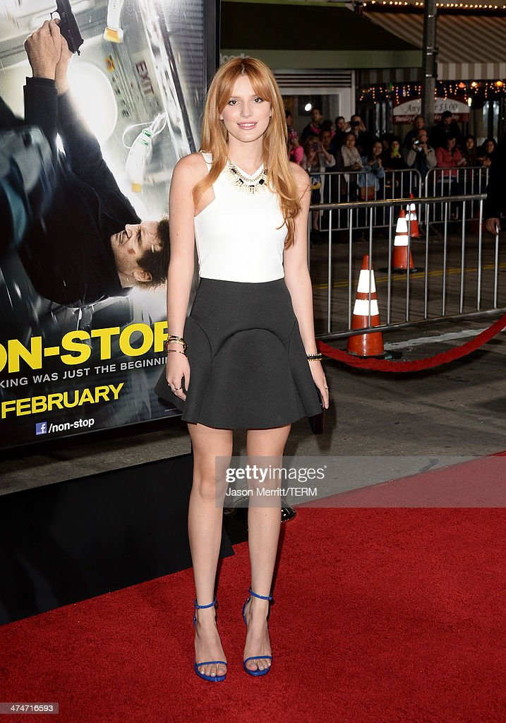 Actress Bella Thorne attends the premiere of Universal Pictures and Studiocanal's 'Non-Stop' at Regency Village Theatre on February 24, 2014 in Westwood, California.