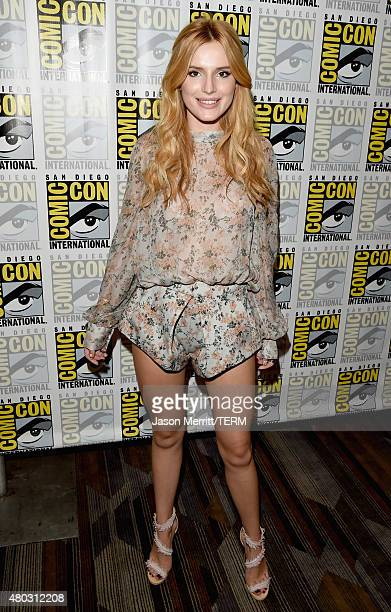 Actress Bella Thorne attends the 'Scream' press room during ComicCon International 2015 at the Hilton Bayfront on July 10 2015 in San Diego California