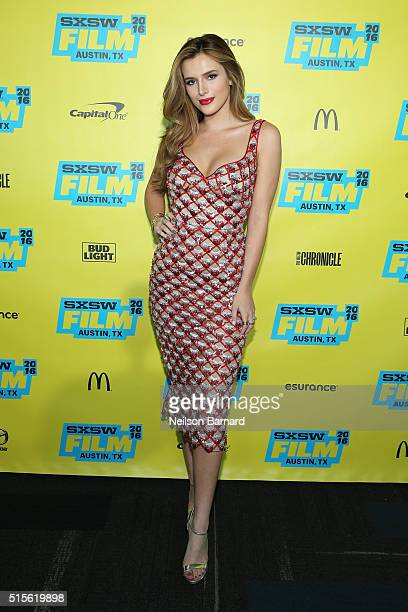 Actress Bella Thorne attends the 'Shovel Buddies' premiere during 2016 SXSW Music Film Interactive Festival at Topfer Theatre at ZACH on March 14...
