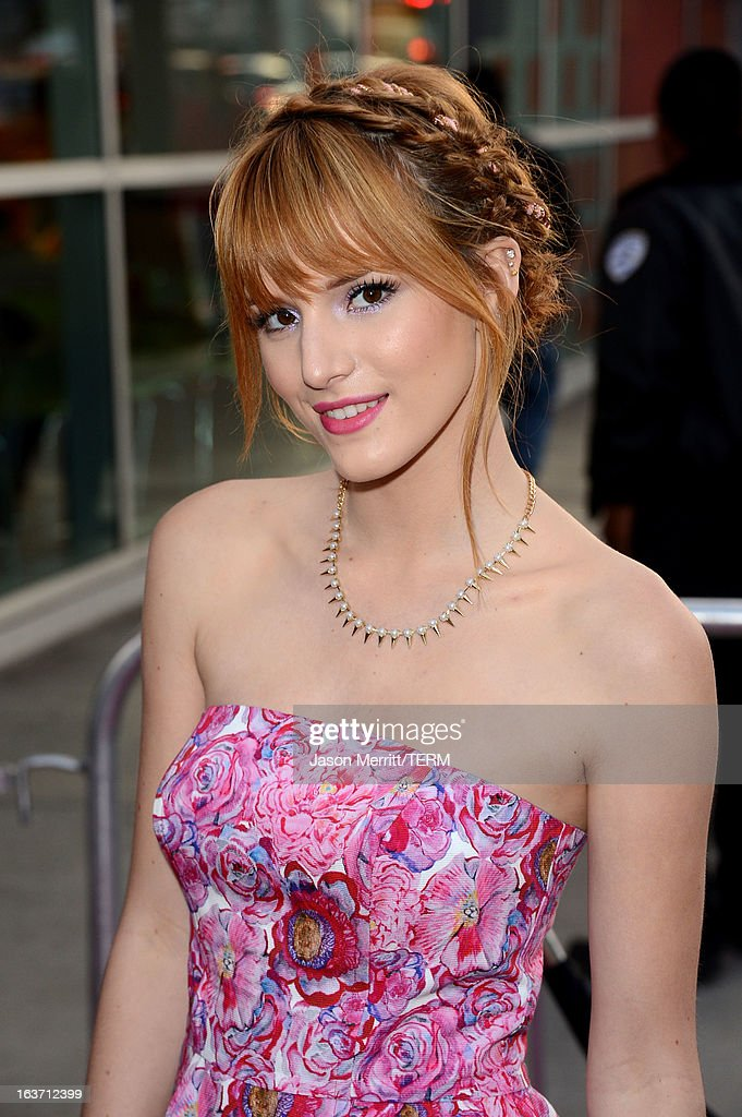 Actress Bella Thorne attends the 'Spring Breakers' premiere at ArcLight Cinemas on March 14, 2013 in Hollywood, California.