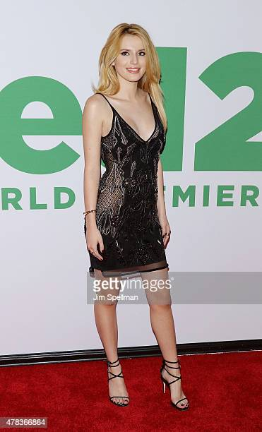 Actress Bella Thorne attends the 'Ted 2' New York premiere at Ziegfeld Theater on June 24 2015 in New York City