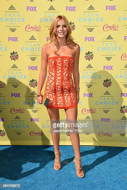 Actress Bella Thorne attends the Teen Choice Awards 2015 at the USC Galen Center on August 16 2015 in Los Angeles California