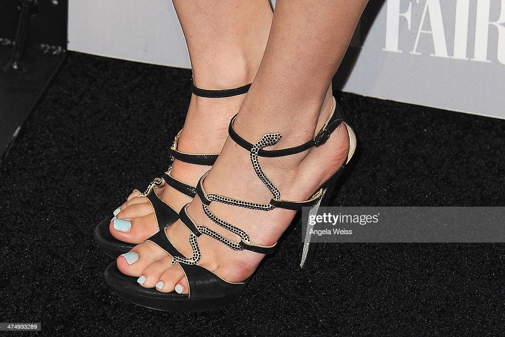 Actress Bella Thorne (shoe detail) attends the Vanity Fair Campaign Hollywood 'Young Hollywood' party sponsored by Fiat at No Vacancy on February 25, 2014 in Los Angeles, California.