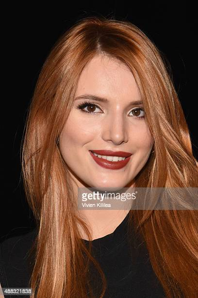 Actress Bella Thorne attends Vera Wang Spring 2016 during New York Fashion Week at Cedar Lake on September 15 2015 in New York City