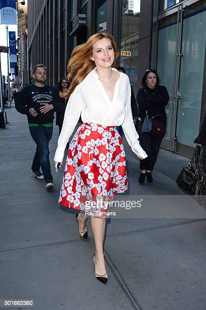 Actress Bella Thorne enters the Sirius XM Studios on December 16 2015 in New York City