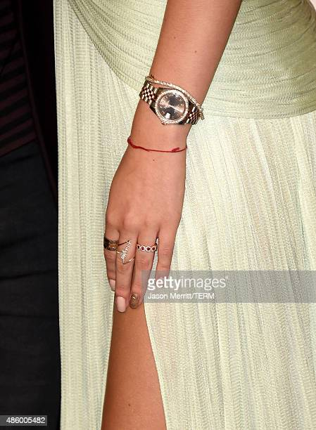 Actress Bella Thorne fashion detail attends the 2015 MTV Video Music Awards at Microsoft Theater on August 30 2015 in Los Angeles California