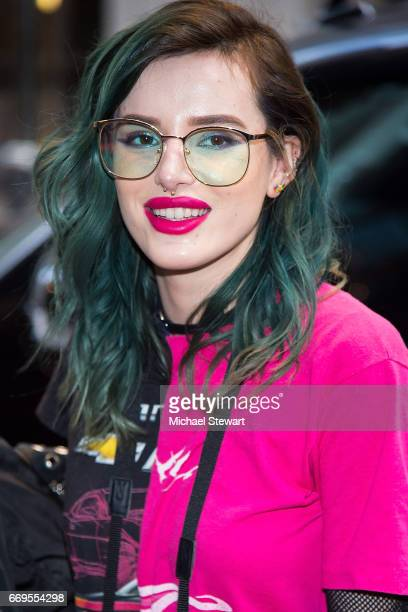 Actress Bella Thorne is seen in Midtown on April 17 2017 in New York City
