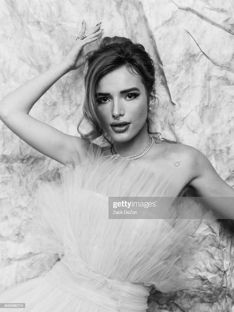 Actress Bella Thorne poses for a portrait during the Daily Front Row's Fashion Media Awards at Four Seasons Hotel New York Downtown on September 8, 2017 in New York City.