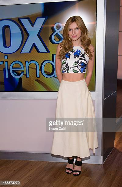 Actress Bella Thorne visits 'Fox Friends' at FOX Studios on April 2 2015 in New York City