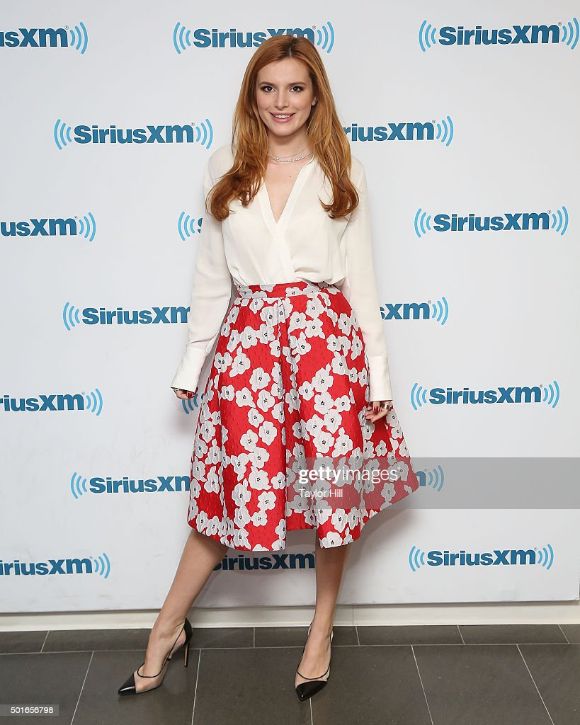 Actress Bella Thorne visits the SiriusXM Studios on December 16 2015 in New York City