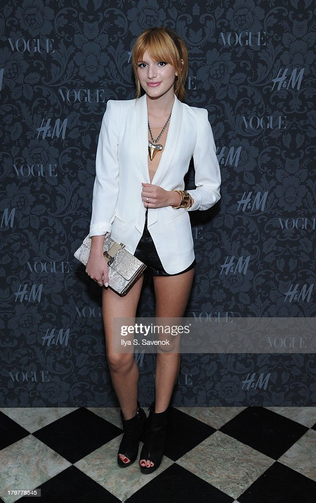 Actress <a gi-track='captionPersonalityLinkClicked' href=/galleries/search?phrase=Bella+Thorne&family=editorial&specificpeople=5083663 ng-click='$event.stopPropagation()'>Bella Thorne</a> wearing H&M attends H&M & Vogue Studios Celebrate 'Between The Shows' on September 6, 2013 in New York City.