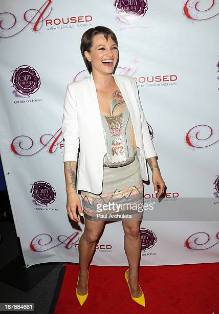 Actress Belladonna attends the Los Angeles premiere of 'Aroused' at the Landmark Theater on May 1 2013 in Los Angeles California