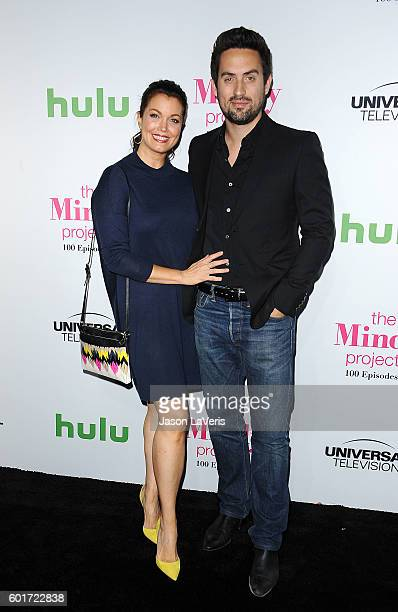 Actress Bellamy Young and actor Ed Weeks attend the 100th episode celebration of 'The Mindy Project' at EP LP on September 9 2016 in West Hollywood...