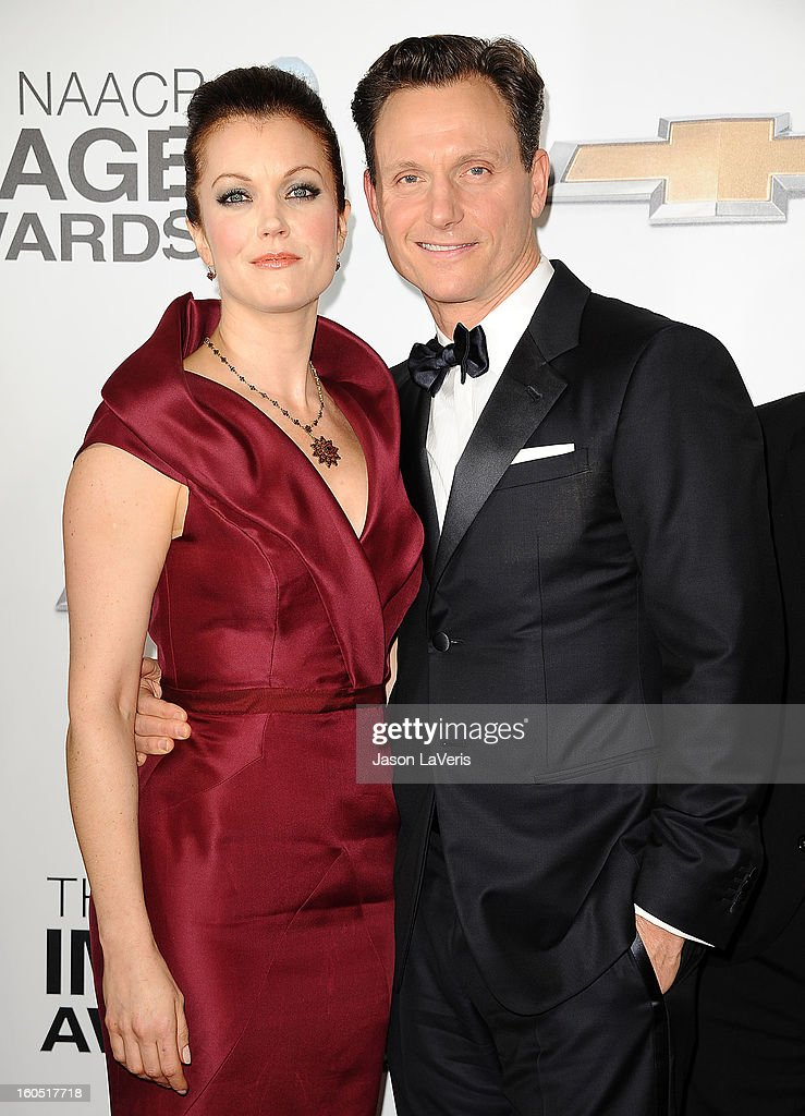 Actress Bellamy Young and actor Tony Goldwyn attend the 44th NAACP Image Awards at The Shrine Auditorium on February 1, 2013 in Los Angeles, California.