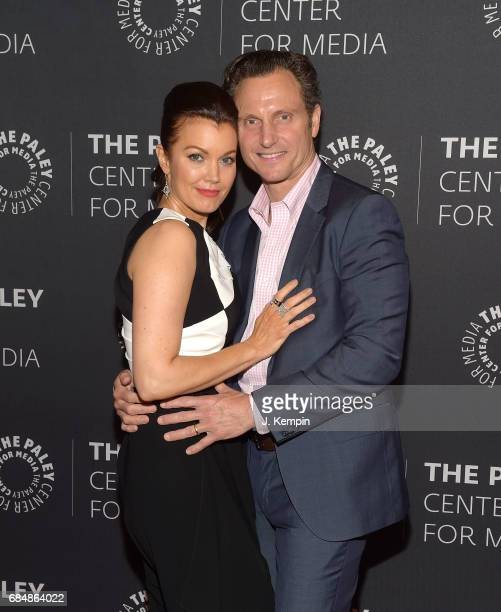 Actress Bellamy Young and actor Tony Goldwyn attend The Paley Center For Media Presents The Ultimate 'Scandal' Watch Party at The Paley Center for...