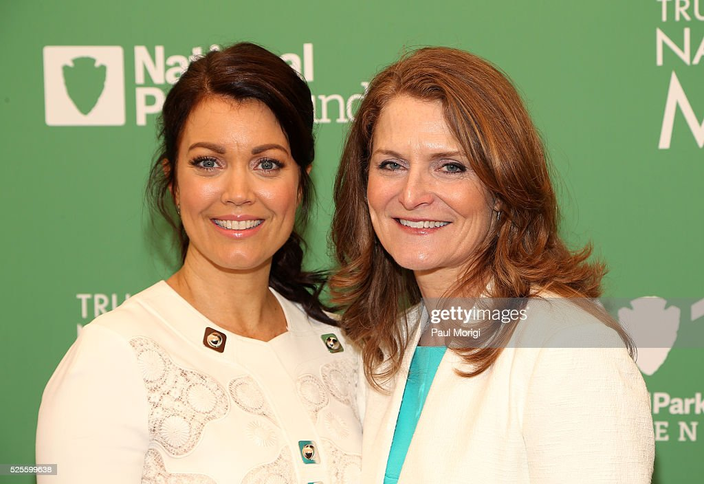Actress <a gi-track='captionPersonalityLinkClicked' href=/galleries/search?phrase=Bellamy+Young&family=editorial&specificpeople=4135230 ng-click='$event.stopPropagation()'>Bellamy Young</a> (L) and President of the Trust for the National Mall Catherine Townsend pose for a photo at the Trust for the National Mall's Ninth Annual Benefit Luncheon in West Potomac Park on April 28, 2016 in Washington, DC.