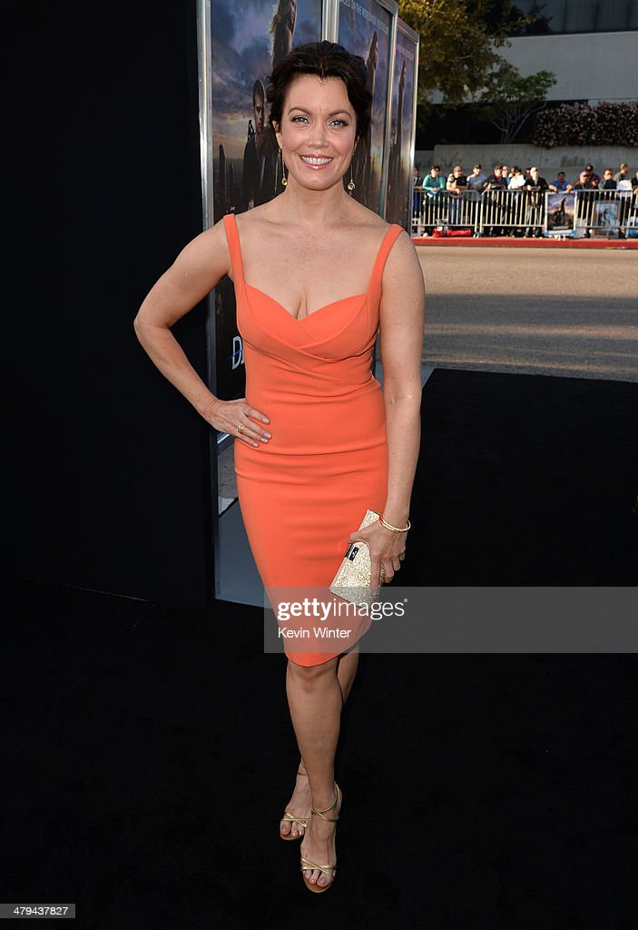 Actress Bellamy Young arrives at the premiere of Summit Entertainment's 'Divergent' at the Regency Bruin Theatre on March 18, 2014 in Los Angeles, California.